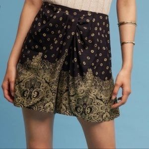 Hei Hei Linen Belted Paisley Luna Wrap Shorts